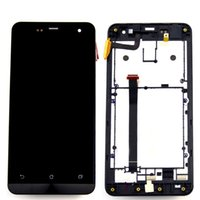 For Asus For Asus ZenFone 5 LCD Screen Panels For Asus ZenFone 5 A500CG A501CG Full LCD Display Screen Panel + Touch Screen Digitizer Glass Assembly With Frame Bezel Housing