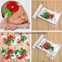 baby christmas hair accessories - Christmas Children Hair Accessories Kids Flower Hair Bands Sequin Bow Headband Baby Hair Accessories Girls Headbands Childrens Accessories