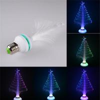 Wholesale New Disco E27 LED RGB XMAS Tree Shape Light Bulb Lamp For Christmas Party Fairy led string V