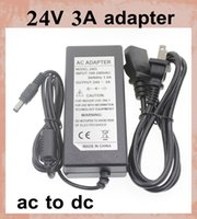 ac led indicator - Power Supply with LED indicator AC DC Power Adapter V A W Power Supply Adapter DC EU US AU UK Plug Cable for led strips DY011
