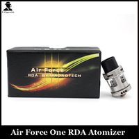 air force designs - Air Force One RDA Clone Huge Vape Rebuildable Dripping Atomizer With Wide Bore Drip Tips Top Air flow control Design VS Temple RDA