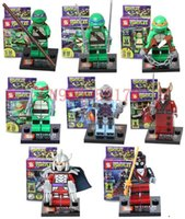 Wholesale Teenage Mutant Ninja Turtles Minifigure Building Blocks Sets Figure DIY Bricks Toys For Children