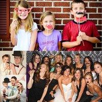 Envío Gratis Nuevo DIY Máscaras Fotos Booth Atrezzo bigote en una fiesta de cumpleaños de la boda del palillo de la orden $ 18Nadie pista