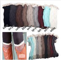 100 % wool socks - 9 Color Fashion Knitting Lace Socks Women Wool High Socks Lady Boots Socks Multicolor Lace Leggings Kneepad A113D2