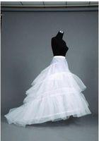 Wholesale A line Wedding Dress Petticoats Adjustable Sizes Crinoline Bridal Accessories Underskirt for Wedding Prom Quinceanera Dresses
