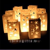 Wholesale Hot Sales Retro Style White Paper Candle Lantern Bags Wedding Party Favor