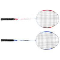 Wholesale 2Pcs Durable Lightweight Badminton Training Racket with Carry Bag In outdoor Sport Equipment