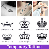 Wholesale Temporary Crown Tattoo Design Tatoo For Girl Woman Waterproof Stickers Makeup Maquiagem Make up Diamond Tattoo Sex Products