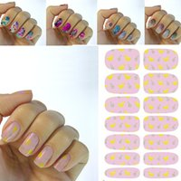 banana chicken - Water Transfer Foil Full Nails Art Sticker Fashion Pink chicken Banana Manicure D Decor Decals Nail Wraps Foil Stickers