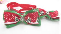 Wholesale New fashion Handmade Christmas Dogs Festival Bow Ties Dog Tie free
