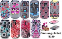 Cheap Samsung S3 mini I8190 case soft touch high quality TPU material Mixed support DHL free shipping