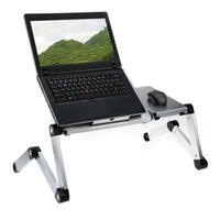 adjustable folding laptop table - EMS Free Degree Adjustable Folding Laptop Desk Tray Stand Aluminum Multi Angle Foldable Tablet Notebook Table for Bed Sofa
