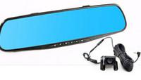 Wholesale 1200 Mega pixels mega pixels dual lens inches LCD display wide angle car DVR car camera