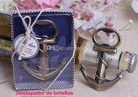 antique pewter - wedding giveaways gifts Antique Brass Anchor Shaped Chrome Bottle Opener In bridal Shower favors wine opener
