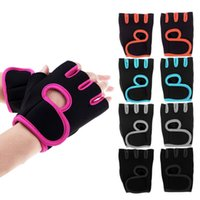 Wholesale New GYM Weight Lifting Gloves Health Sports Cycling Exercise Fitness Dumbbell Half Finger Workout Gloves Size M L For Men Women