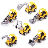 Wholesale 6pcs Yellow Color Toy Truck Models Mini Toys Construction Trucks For Kids Children Play Gift Toys