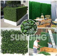 Wholesale SUNWING Artificial Boxwood Hedge Plastic Garden Fence Outdoor Artificial Plants for Garden Decoration Privacy Fence G0602A001