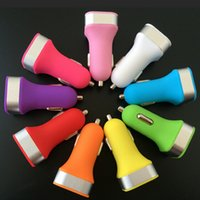 auto song - Colorful Universal Mini Dual USB Port Car Charger Cigarette A Auto Power Adapter For iPhone S C iPad Samsung Huawei Nokia Song