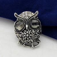 Children's asian face products - Free postage new jewelry manufacturers within Europe and vivid owl diamond brooch brooch alloy brooch animal products trade