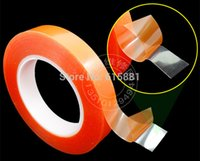 acrylic packing tape - Strong Acrylic Adhesive Red Film Clear Double Sided Tape No Trace for Phone LCD Screen