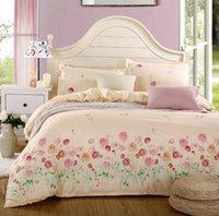 beding sets - New color Printed Beding Sets Sheet Duvet Cover Pillowcase Winter Cotton Home textile Bed Linen Bed Set Print Bed Sheet