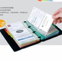 Wholesale Business Card Files Holders Notebook Can put a card Business Office School Supplies
