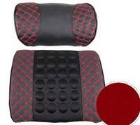 Soho auto lumbar cushion - Multifunctional Car Electric massage cushion with pillow Auto lumbar support back cushion Waist Support