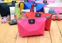 Wholesale Fashion Lady Dumpling Cosmetic Bag Colorful Waterproof Nylon Make up Bag Girl Organizer Handbag