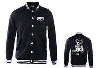 baseball letterman jackets - New Fashion famous designer Factory Price baseball hoodies jackets crooks castles sweatshirts mens clothing letterman