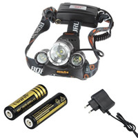 Wholesale LM x CREE XM L T6 LED Headlamp Headlight Head Light Lamp with x battery Charger