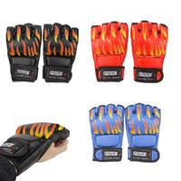 Wholesale 3 Colors PU Leather Half Finger Boxing Gloves Professional Training Sanda Mitts Sandbag Sparring Gloves for MMA Muay Thai