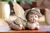 Wholesale Cute Fairy Baby Figurine Resin Angel Statue Gift and Craft Ornament Accessories Home Decoration baby room decoration