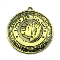 cutting die - die cut sports medal with antique brass plated