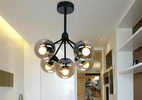 Incandescent No Hotel Modo Chandelier 5 globes Modern Glass Chandeliers Jason Miller pendant lamp Droplight Living Room Dining Room roll hill