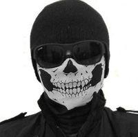 Wholesale Skull Bandana Bike Motorcycle Helmet Neck Face Mask Paintball Ski Sport Headband CS Skull masks Halloween costumes