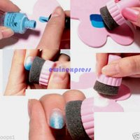 Wholesale New arrival hot sale set Nail Art Sponge Stamp Stamping Polish Template Transfer Manicure DIY Tools