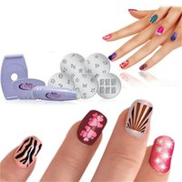 Cheap Free Shipping! New DIY Design Kit Professional Nail Art Express Decals Stamp Stamping Polish Nail Decoration Tools 302-0105