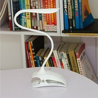 Wholesale TL Clip Desk Lamp in Stand on Own Clip Everywhere Gooseneck Tube Touch Sensitive LED USB Rechargeable Dimmable Portable Lightwei