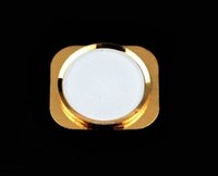 Wholesale Original new Black white gold color home button with trim replacement for Apple iPhone S