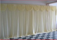 Wholesale Best selling Wedding backdrops Wedding gauze curtain decorate custom any colour for Wedding Decorations shipping free