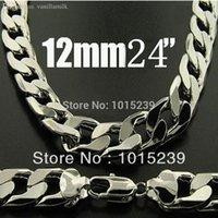 Wholesale Fashion Men s Jewelry Silver mm Curb Chain Men s Necklace inch cm Hot Sale