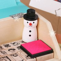 Wholesale Funny snowman novelty rubber stamp Black and white Four snowflake designs Best gifts scrapbooking decoration
