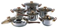 Wholesale 18 STAINLESS STEEL piece Covered Cookware Set Pots and Pans