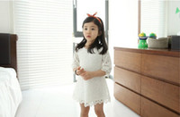 korean children clothing - 2015 Fashion Korean Children Clothing Beautiful White Girls Lace Dress Princess Mini Dresses Kid Baby Clothes