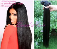 Wholesale 4pcs unprocessed brazilian virgin hair straight human hair weaving bundles no shedding no tangle DHL human hair weave