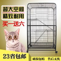 Wholesale 23 provincial shipping pet cat cage three large British short Garfield Fold kitty house cat kennel cat litter villa