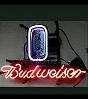 beer can lamp - 2015 Hot Neon Sign Commercial neon sign BEER LAMP BUDWEISER CAN BEER BAR NEON LIGHT SIGN STORE DISPLAY BAR REAL NEON quot x14 quot