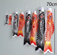 Wholesale Koinobori Koi Nobori Carp Windsocks Streamers Fish Flag Decoration Med Fish Kite Flag Hang Wall home bar Decor inch inch drop shipping