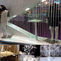 Wholesale ft M Wedding DIY Decor Diamond Acrylic Crystal Beads Curtain Strand Garland