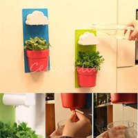 Wholesale High Quality For Creative Designed Cloud Rainy Pot Wall hung Plant Flower Pot Vase Yard Home Decoration Decor